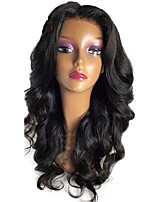 cheap -Virgin Human Hair Wig Peruvian Hair Wavy Layered Haircut 130% Density With Baby Hair For Black Women Black Short Long Mid Length Women's