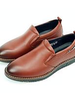 Недорогие -Муж. обувь Наппа Leather / Кожа Осень Удобная обувь Мокасины и Свитер Черный / Коричневый