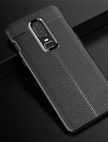 Недорогие -Кейс для Назначение OnePlus OnePlus 6 Рельефный Кейс на заднюю панель Однотонный Мягкий ТПУ для OnePlus 6