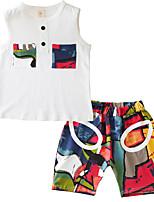 cheap -Kids Boys' Color Block / Patchwork Sleeveless Clothing Set