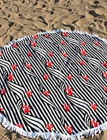 abordables -Qualité supérieure Drap de plage, Lignes / Vagues Polyester / Coton 1 pcs