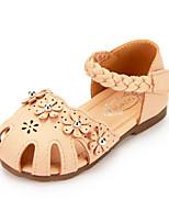 cheap -Girls' Shoes PU Summer Comfort Sandals Flower for Outdoor Beige Pink Almond