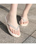cheap -Women's Shoes EVA Summer Comfort Slippers & Flip-Flops Wedge Heel White / Black