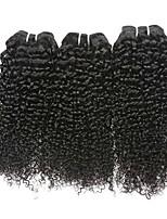 Недорогие -3 Связки Малазийские волосы / Индийские волосы Крупные кудри Натуральные волосы Человека ткет Волосы / Удлинитель / Пучок волос 8-28 дюймовый Ткет человеческих волос / Мода