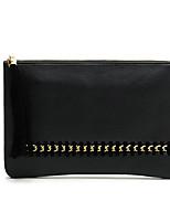 preiswerte -Damen Taschen PU Unterarmtasche Quaste Schwarz