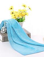 abordables -Qualité supérieure Serviette / Serviette de sport, Couleur Pleine Polyester / Coton 1 pcs
