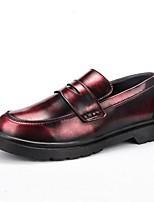 Недорогие -Муж. обувь Полиуретан Весна Мокасины Мокасины и Свитер Серебряный / Коричневый / Красный