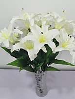 abordables -Fleurs artificielles 1 Une succursale Rustique Lis Arbre de Noël