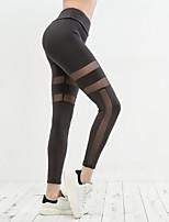 abordables -Femme Pantalon de yoga Des sports Maille Collants / Leggings Course / Running, Fitness, Faire des exercices Tenues de Sport Séchage rapide, Haute élasticité, Tummy Control Elastique