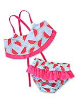 cheap -Kids / Toddler / Newborn Girls' Print Sleeveless Swimwear