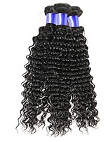 cheap -Peruvian Hair Deep Wave Curly Human Hair Weaves 50g x 3 Soft Fashion Hot Sale New Arrival Best Quality Gifts Natural Color Hair Weaves