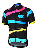 cheap -Arsuxeo Short Sleeve Cycling Jersey - Black / Red Bike