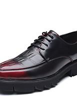 Недорогие -Муж. обувь Резина Весна / Лето Удобная обувь Туфли на шнуровке Черный / Красный