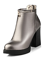 Недорогие -Жен. Обувь ПВХ / Полиуретан Наступила зима Оригинальная обувь / Модная обувь Ботинки На толстом каблуке Заостренный носок Ботинки Заклепки