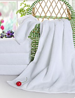 abordables -Style frais Serviette, Couleur Pleine Qualité supérieure Polyester / Coton Pur coton Etoffe plaine 1pcs