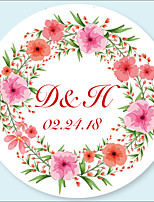 cheap -Floral / Botanicals Stickers, Labels & Tags - 48pcs Circular Stickers / Envelope Sticker All Seasons