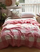 abordables -Confortable - 1 Couvre-lit Eté Coton T / C Ecossais / à Carreaux