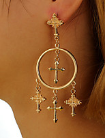 cheap -Women's Cross Drop Earrings - Fashion / European Gold / Silver Earrings For Party