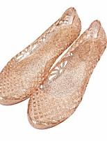 Недорогие -Жен. Обувь Этиленвинилацетат Лето Удобная обувь Тапочки и Шлепанцы На плоской подошве для Золотой Черный