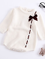 cheap -Baby Girls' Patchwork Long Sleeve Bodysuit