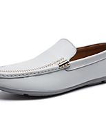 cheap -Men's Shoes Cowhide Spring Comfort Loafers & Slip-Ons White / Dark Blue / Light Blue