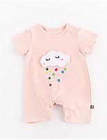 cheap -Baby Girls' Print Short Sleeve Romper