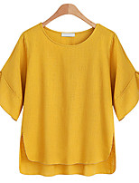 cheap -Women's Basic / Street chic T-shirt - Solid Colored