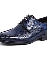 Недорогие -Муж. обувь Наппа Leather / Кожа Осень Удобная обувь Туфли на шнуровке Черный / Синий