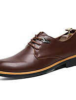 cheap -Men's Shoes PU Spring Fall Light Soles Oxfords for Casual Black Dark Brown