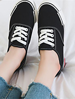 Недорогие -Жен. Обувь Полотно Осень Удобная обувь Кеды На плоской подошве Круглый носок Белый / Черный