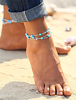 cheap -Turquoise Anklet - Vintage, Bohemian, Tropical Gold / Silver For Gift / Bikini