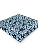cheap -Men's Vintage / Party / Work Pocket Squares - Color Block / Check / Jacquard Blue & White