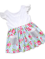 cheap -Toddler Girls' Floral / Print / Patchwork Sleeveless Dress