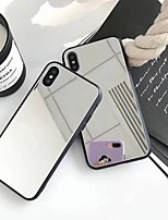cheap -Case For Apple iPhone X / iPhone 8 Plus Mirror Back Cover Solid Colored Hard Acrylic for iPhone X / iPhone 8 Plus / iPhone 8