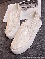 Недорогие -Жен. Обувь Полотно Лето Удобная обувь Кеды Микропоры Черный / Желтый