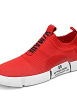 cheap -Men's Shoes Knit Summer Comfort / Light Soles Sneakers White / Black / Red