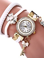cheap -Women's Quartz Bracelet Watch Chinese Imitation Diamond Casual Watch PU Band Butterfly Bohemian Black White
