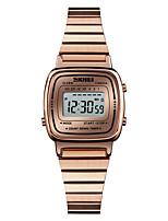Недорогие -SKMEI Жен. электронные часы Японский Цифровой 30 m Защита от влаги Будильник Календарь Нержавеющая сталь Группа Цифровой На каждый день Мода Черный / Синий / Серебристый металл -  / Один год
