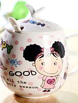 abordables -Drinkware Porcelaine Tasse Athermiques Dessin-Animé 1pcs