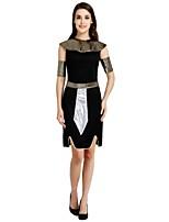 economico -Costumi antico Egitto Completi Per donna Halloween / Carnevale / Giorno della morte Feste / vacanze Costumi Halloween Nero Tinta unita /