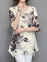 preiswerte -Damen Verziert - Chinoiserie Street Schick Bluse