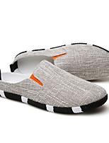 Недорогие -Муж. обувь Полотно Лето Удобная обувь Мокасины и Свитер Темно-синий / Светло-синий / Хаки