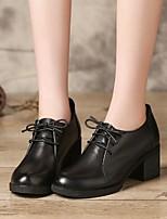 abordables -Femme Chaussures Cuir Automne Confort Chaussures à Talons Talon Bottier Bout rond Noir / Marron