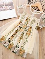 cheap -Toddler Girls' Daisy Floral Short Sleeve Dress