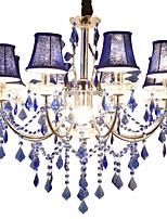 abordables -QIHengZhaoMing 9 lumières Bougie Lustre Lumière d'ambiance - Cristal, 110-120V / 220-240V, Blanc Crème, Ampoule incluse / 15-20㎡