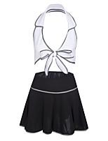 baratos -Mulheres Conjunto / Uniforme e Cheongsams / Baby-doll & Slip Roupa de Noite - Renda, Estampa Colorida