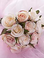 abordables -Fleurs artificielles 1 Une succursale Elégant / Rustique Roses Fleur de Table