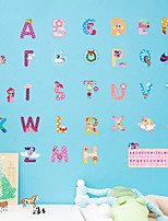 Недорогие -Декоративные наклейки на стены - Простые наклейки Персонажи / Геометрия Детская