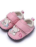 Недорогие -Девочки Обувь Дерматин Весна Обувь для малышей На плокой подошве для на открытом воздухе Красный Синий Розовый