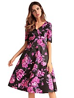 cheap -TS - Dreamy Land Women's Basic Sheath Dress - Floral